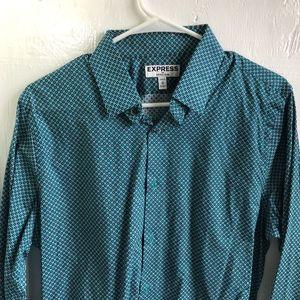 Express Men Medium Extra Slim Pattern Dress Shirt